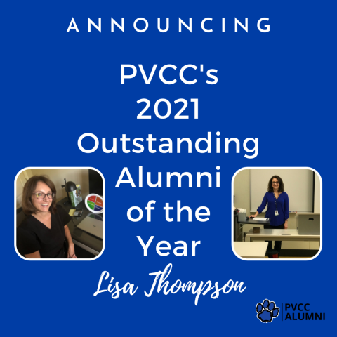 PVCC's 2021 Outstanding Alumni of the Year - Lisa Thompson