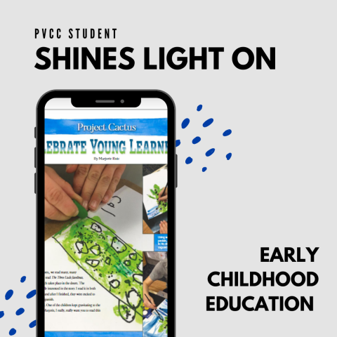 PVCC Student Shines Light on Early Childhood Education