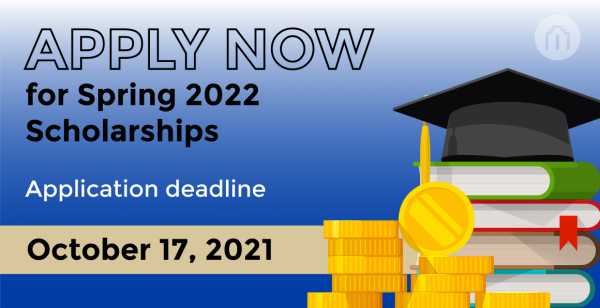 Apply Now for Spring 2022 Scholarships