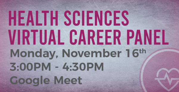 Health Sciences Virtual Career Panel