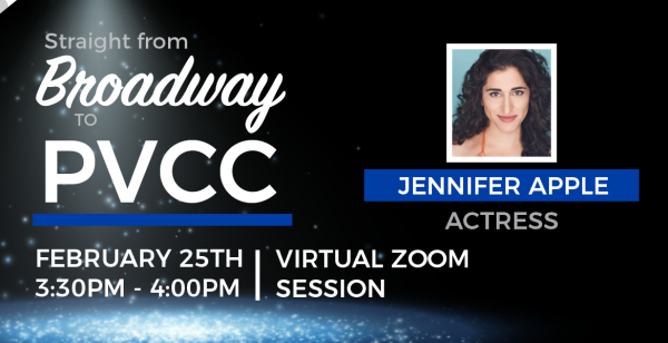 Straight from Broadway to PVCC:Virtual Guest Artist Experience with Jennifer Apple