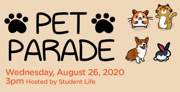 Virtual Pet Parade Hosted By Student Life
