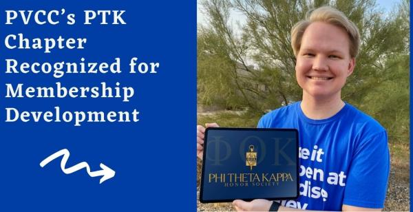 PVCC's PTK Chapter Recognized for Membership Development
