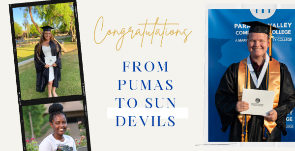 From Puma to Sun Devil, PVCC Students Transfer to 4-Year University