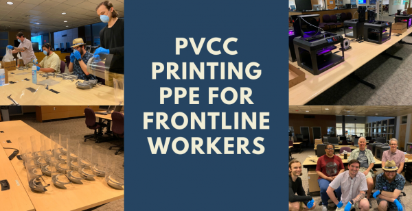 PVCC Printing PPE for Frontline Workers